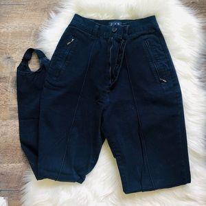 Gap vintage pleated high waisted stirrup pants